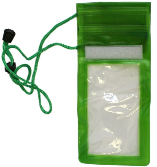 Picture of Waterproof Case - Universal Durable Underwater Dry Bag, Touch Responsive Transparent Windows, Watertight Sealed System - Green