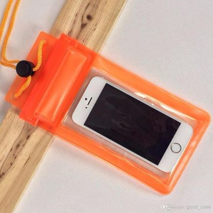 Picture of Waterproof Case - Universal Durable Underwater Dry Bag, Touch Responsive Transparent Windows, Watertight Sealed System - Orange