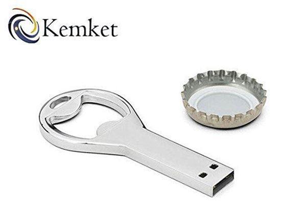Picture of Kemket Bottle Opener Key Chain USB 2.0 Memory Flash Stick Pen Drive 64GB