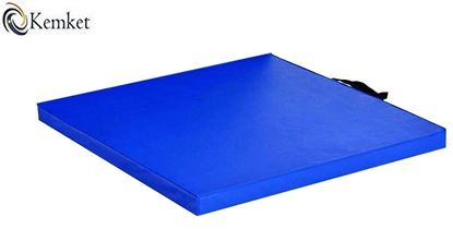 Picture of Kemket Exercise Mat with Handles- Yoga Pilates Exercise Fitness Closed Cell EVA Foam Non Slip Mat 60cm x 60cm x 4cm Blue