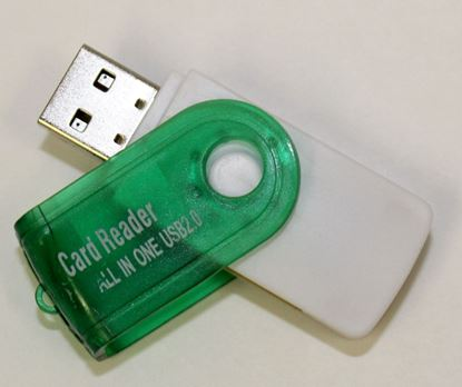 Picture of Card Reader/USB Version 2.0/High Speed/MMC SD RS-MMC Mini SD T-Flash MS/MS DUO/MS PRO DUO M2 Mini SD M2 green