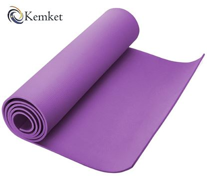 Picture of Kemket Yoga Exercise Fitness Workout Non Slip Mat 10mm High Density Anti-Tear Exercise Mat with Carrying Strap