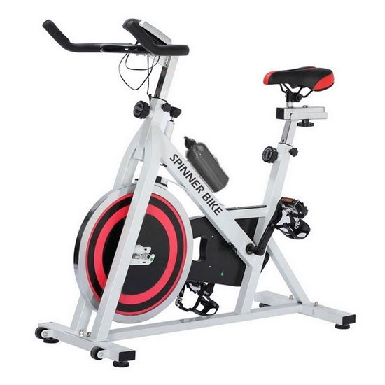 Picture of Kemket Indoor Exercise Bike/Spin Cycling Cardio Bike/Racing Exercise Bike/13kg Flywheel & Pulse Sensor/Resistance Fitness With On Board Computer Ultra Quiet SC-84039 Deluxe *LIMITED OFFER
