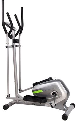 Picture of Home Elliptical Cross trainer - New Magnetic resistance elliptical fitness Cardio workout with 8-level magnetic adjustable resistance, 5KG two ways Flywheel, console display with heart rate sensor
