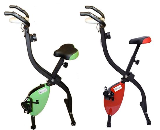 Picture of Kemket Exercise Bike X-Bike Folding Magnetic Home Cardio Fitness Machine-Red