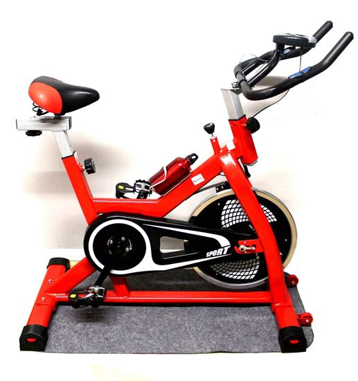 Picture of Kemket Indoor Exercise Bike/Spin Cycling Cardio Bike/Racing Exercise Bike/13kg Flywheel & Pulse Sensor/Resistance Fitness With On Board Computer Ultra Quiet