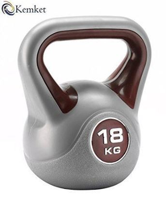 Picture of Kemket Home Gym Fitness Exercise Vinyl Kettle bell workout training 18kg