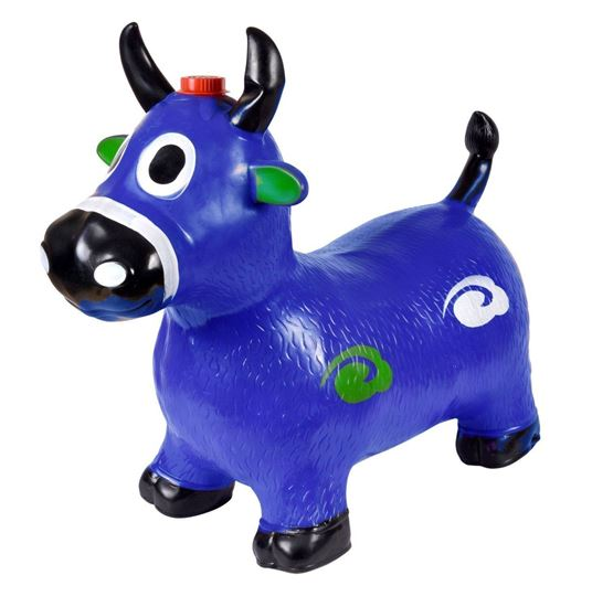 Picture of Blue Cow Hopper - (Inflatable Space Hopper, Jumping Cow, Ride-on Bouncy Animal)