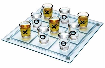 Picture of Tic Tac Toe Drinking Shot Glass Fun Set Puzzle/ XOXO-Gifts for Kids and Adults