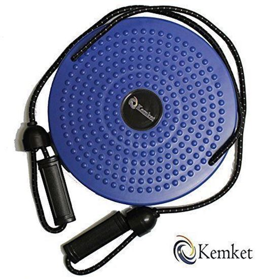 Picture of Kemket Waist Twister Disc Fitness Massage Round With Hand Ropes Foot Massager Blue
