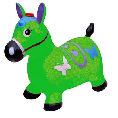 Picture of Green Horse Hopper - (Inflatable Space Hopper, Jumping Horse, Ride-on Bouncy Animal)