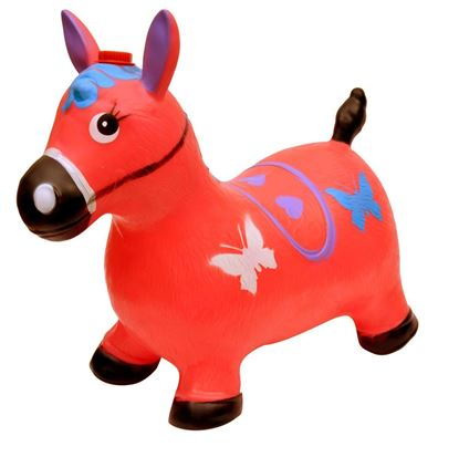 Picture of Red Horse Hopper - (Inflatable Space Hopper, Jumping Horse, Ride-on Bouncy Animal)