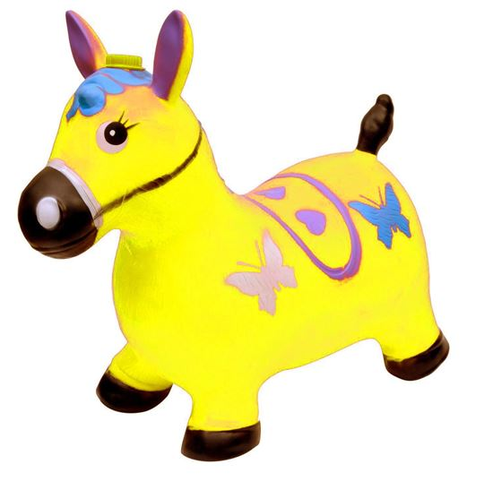 Picture of YELLOW-Horse Hopper - (Inflatable Space Hopper, Jumping Horse, Ride-on Bouncy Animal)