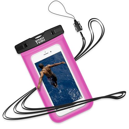 Picture of Waterproof Phone Case YOSH [Lifetime Warranty] IPX8 Watertight Sealed Underwater Waterproof Phone Pouch Dry Bag with Lanyard for iPhone X 6s 6 Plus Samsung S9 S8 S7 J3 Huawei Moto G6 Nokia LG up to 6""
