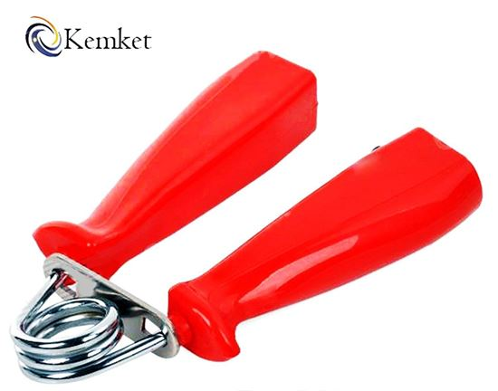 Picture of Kemket Hand Grip Strengthener With Counter Arm - High Tensile Strength Spring for Long Life Durability - Perfect For Finger, Hands and Forearm Strengthening, Injury Rehabilitation, Martial Arts & MMA Training, Weight Lifting and Fitness RED