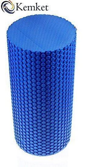 Picture of Yoga EVA Foam Roller 15cmx45cm - Yoga, Pilates, Fitness Routines, Rehabilitation Training, Stretching, Improving Core Muscles, Strength, Posture, Stability, Massage Therapy Blue