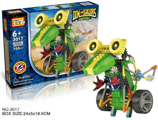 Picture of LOZ ideas Motor Building Blocks Robotic Tyrannosaur Robot T-Rex Action Dinosaur Model Toys DIY Battery Walk Toy Block Gift
