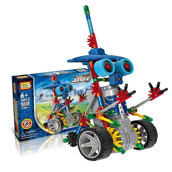 Picture of LOZ ideas Motor Building Block Robotic Warrior Robots Jungle Electric Action Model Toys DIY Educational kids Gift Fun Toy 3013