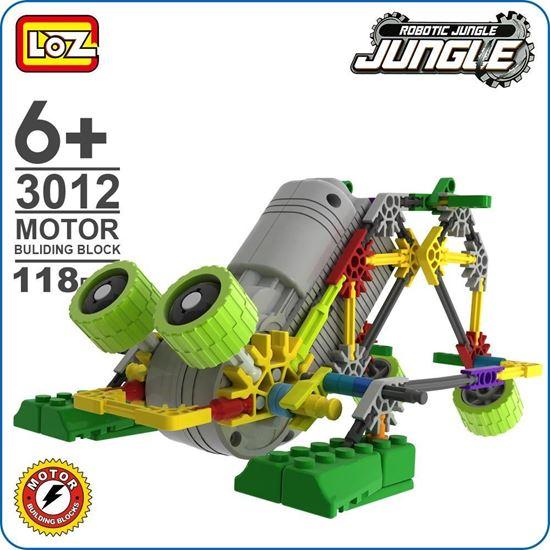 Picture of LOZ ideas Motor Building Block Robotic Frog Robot Jungle Action Model Toys DIY Educational Encyclopedia kids Gift Fun Toy 3012