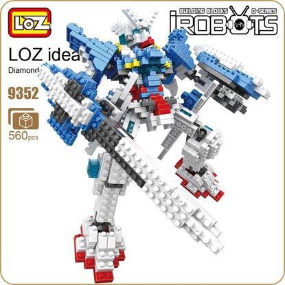 Picture of LOZ Diamond Blocks Robot Super Heroes Japanese Anime Action Figures Character Kids Assembly Toys Educational Figurine Brick 9352
