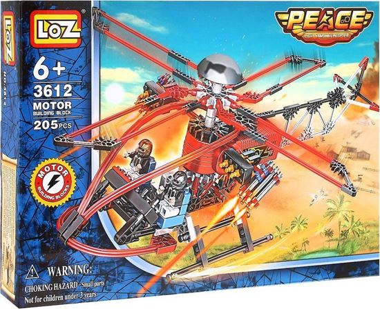Picture of LOZ Light Attack Helicopter Fight inserted blocks toy - Rescue Helicopter
