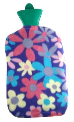 Picture of Hot water bag with fleece 2L PURPPLE FLOWER