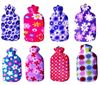 Picture of Hot water bag with fleece 2L PINK FLOWER