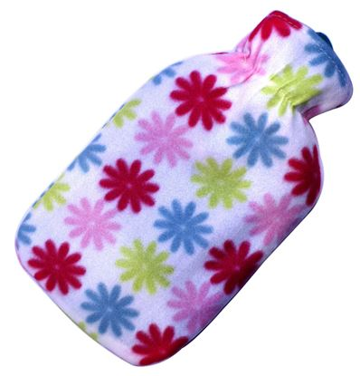 Picture of Hot water bag with fleece 2L WHITE FLOWER