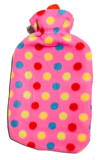 Picture of Hot water Bag with fleece 2L PINK MIXBALL