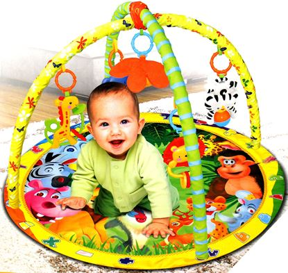 Picture of New baby rattles music game mat play mat child newborn crawling mat carpet home fitness mat with hanging toy animal
