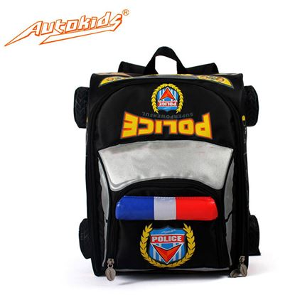 Picture of Autokids Child Backpack Anti-lost The Police Car Design Bag With Pencil Case (Black)