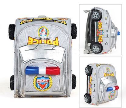 Picture of Autokids Child Backpack Anti-lost The Police Car Design Bag With Pencil Case (Silver)