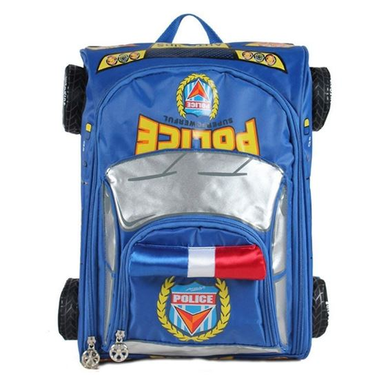 Picture of Autokids Child Backpack Anti-lost The Police Car Design Bag With Pencil Case (Blue)