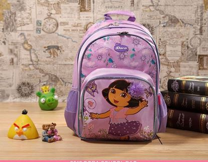Picture of Dora The Explorer 3 PCs  Backpack Rucksack School Bag , Travel Bag and Pencil Bag for Kids Girls Purple