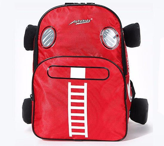 Picture of Autokids Child Backpack Anti-lost The Fire Engine Car Design Bag (RED)