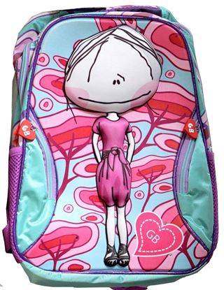 Picture of CHILDREN BACKPACK RUCKSACK SCHOOL BAG TRAVEL BAG FOR KIDS GIRLS 3D PICTURE AND FLASHING LIGHT