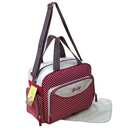 Picture of Baby Kingdom 3-Part Baby Changing Bag Red