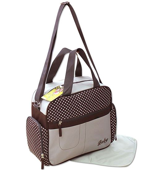 Picture of Baby Kingdom 3-Part Baby Changing Bag Brown