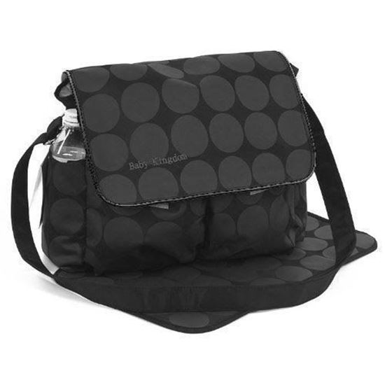 Picture of Large Polka Dots Nappy Diaper Changing Bags Set BLACK/GREY