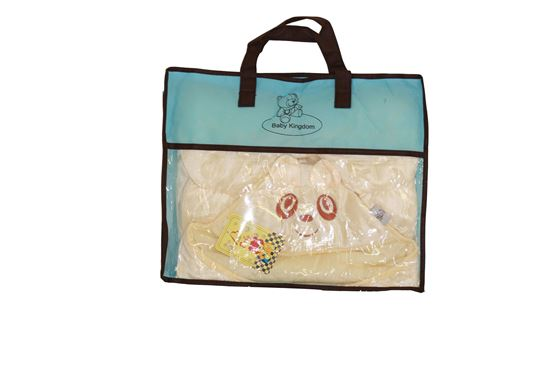 Picture of Baby Kingdom Cute Cartoon Shaped Multi-function Soft Fleece Baby Blanket Wrap Stroller Sleeping Bag Cream