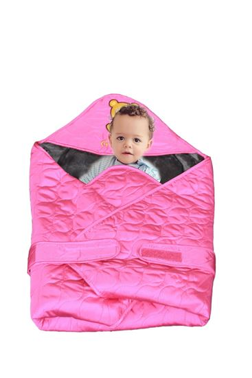 Picture of Newborn Baby Kid Super Soft Swaddle Blanket Wrap Hood Sleeping Bag Pink