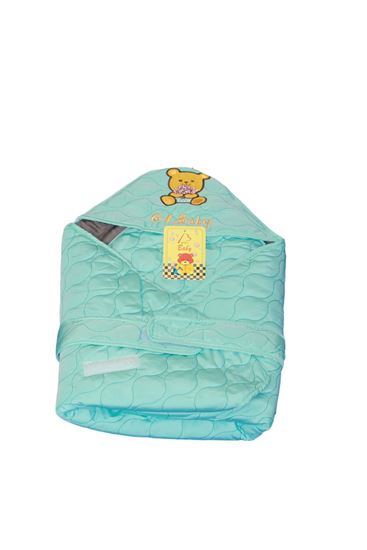Picture of Newborn Baby Kid Super Soft Swaddle Blanket Wrap Hood Sleeping Bag Blue