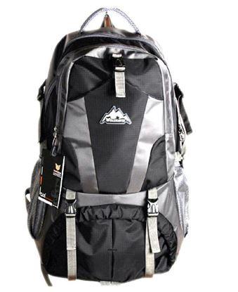 Picture of Men Travel Bags Waterproof Resin Mesh System Outdoor Camping Travel Hiking Backpacks Bag Black