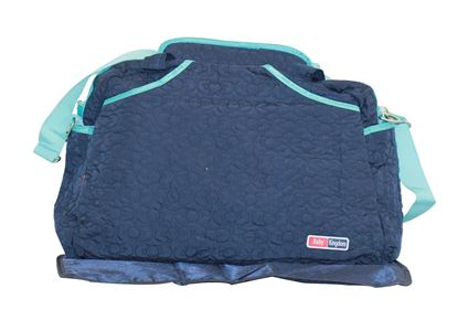 Picture of Large 2 Pcs Nappy Diaper Changing Bags Set Blue