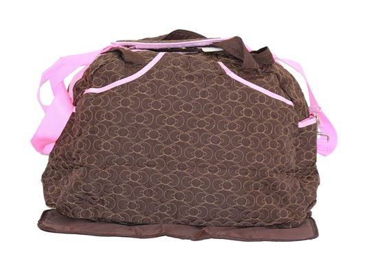 Picture of Large 2 Pcs Nappy Diaper Changing Bags Set Brown