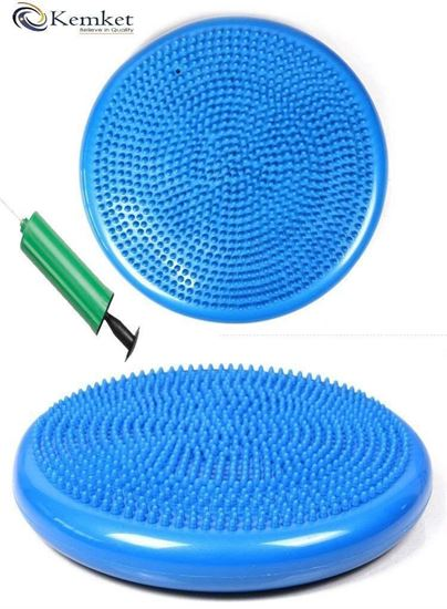 Picture of Kemket Air Stability Wobble Balance Rehab Cushion 33cm - Improves Posture, Core Training, Anti-Slip Surface, Supports Muscle, Comfortable, Encourages Active Sitting for Kids, Children Friendly Blue