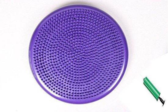 Picture of Kemket Air Stability Wobble Balance Rehab Cushion 33cm - Improves Posture, Core Training, Anti-Slip Surface, Supports Muscle, Comfortable, Encourages Active Sitting for Kids, Children Friendly Purpple