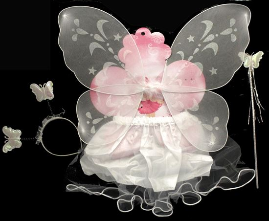 Picture of BUTTERFLY WING 4 PCS WITH SKIRT WHITE