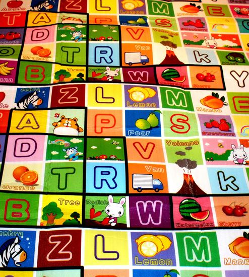 Picture of Play Mat Double-side High Quality Baby Crawl Mat Size : 150x180 cm  ALPHABET(A-Z) AND FRUIT NAME