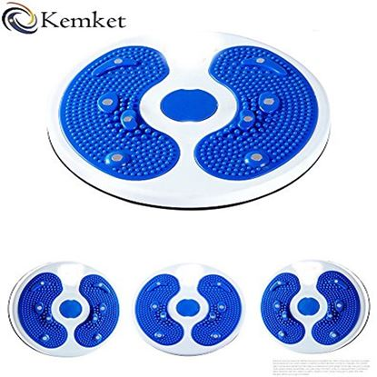Picture of Kemket Magnetic Waist Twister Disc Fitness Massage Round With Hand Ropes And Without Ropes Foot Massager Stepper wriggled plate (Blue, Without Ropes)